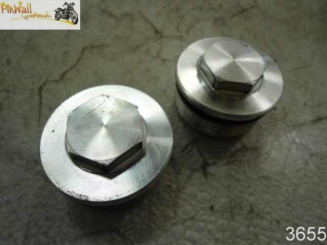 USED Polaris Victory Vegas FORK CAP NUT SET 2