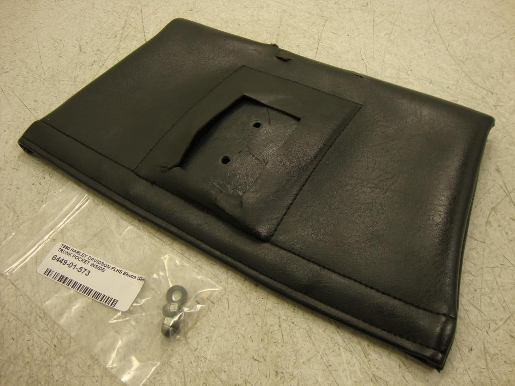 USED 83-UP Harley Davidson FLH FLHT Touring TRUNK POCKET OWNERS MANUAL  POUCH 53165-