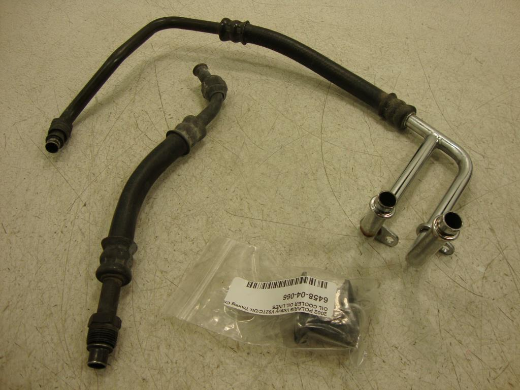 USED Victory OIL COOLER LINE INLET OUTLER HOSE 03-06 Standard Deluxe Touring Cruiser