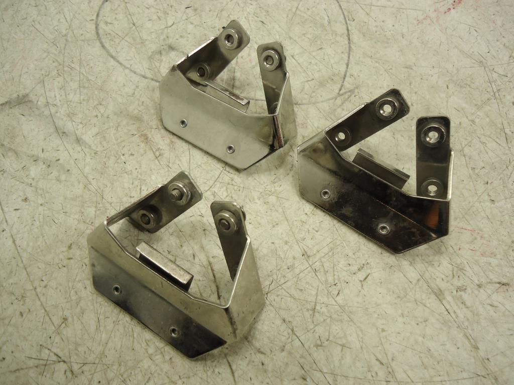 USED 1993-2013 Harley Davidson Touring FLH SADDLEBAG BRACKET SET OF THREE 90958-93