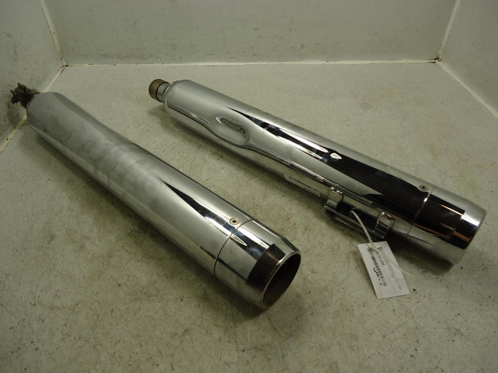 USED 1995-2005 Harley Davidson FLH Touring MUFFLER LEFT RIGHT SET EXHAUST