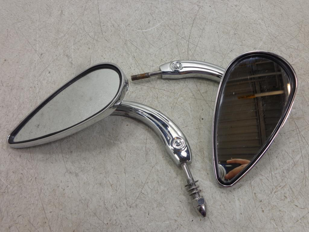 USED Harley Davidson Dyna Sportster Softail Touring SKULL STEM MIRRORS MIRROR