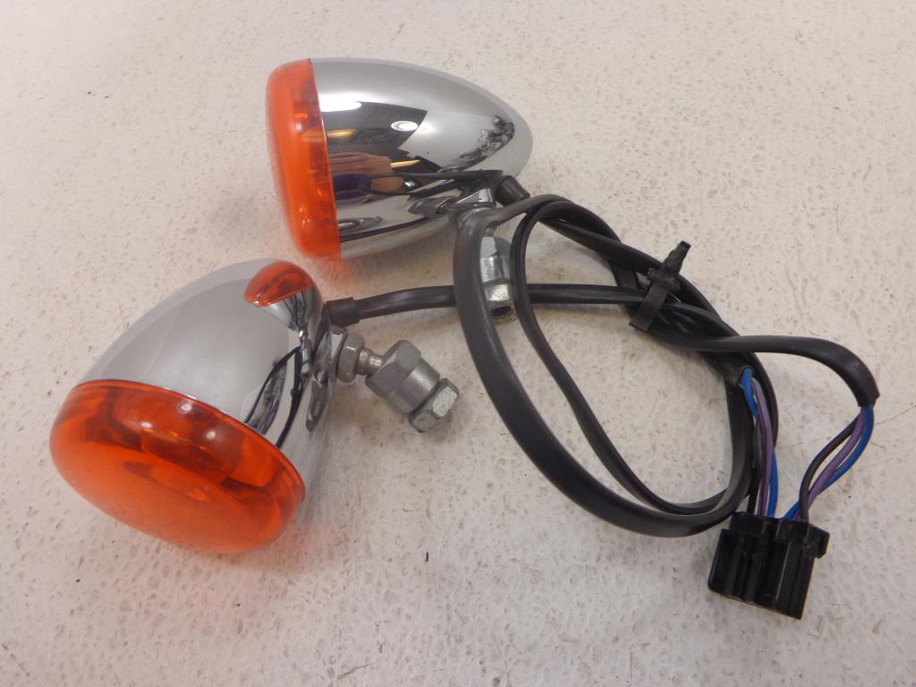 USED 00-15 Harley Davidson Sportster DYNA SOFTAIL Vrod FRONT TURN SIGNAL SIGNALS