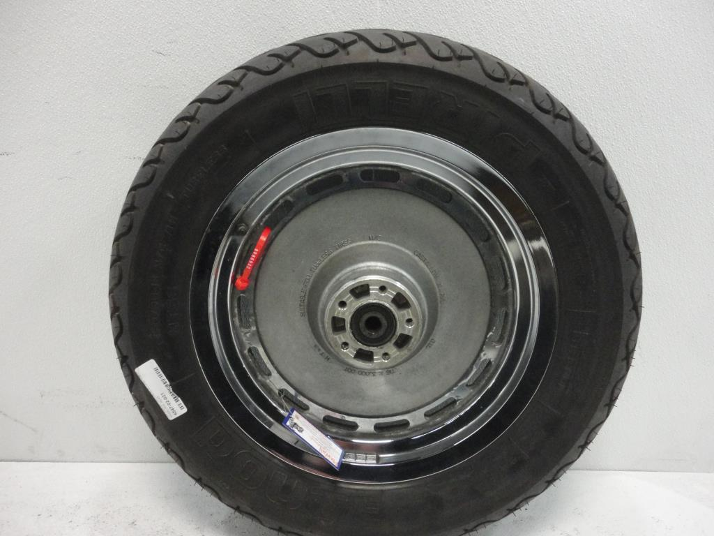 "USED 00-04 Harley Davidson Sportster 16X3 3/4"" AXLE  CHROME SLOTS REAR WHEEL RIM"