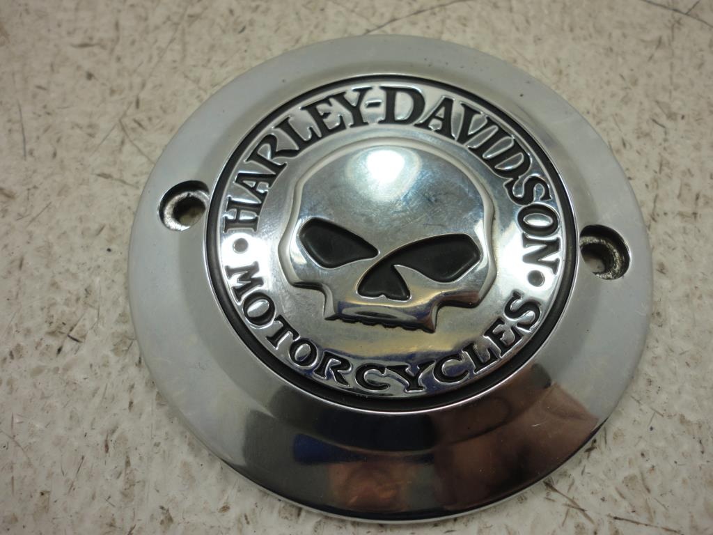 USED 2004-2018 Harley Davidson Sportster Xl and XR WILLIE G SKULL TIMER COVER ENGINE
