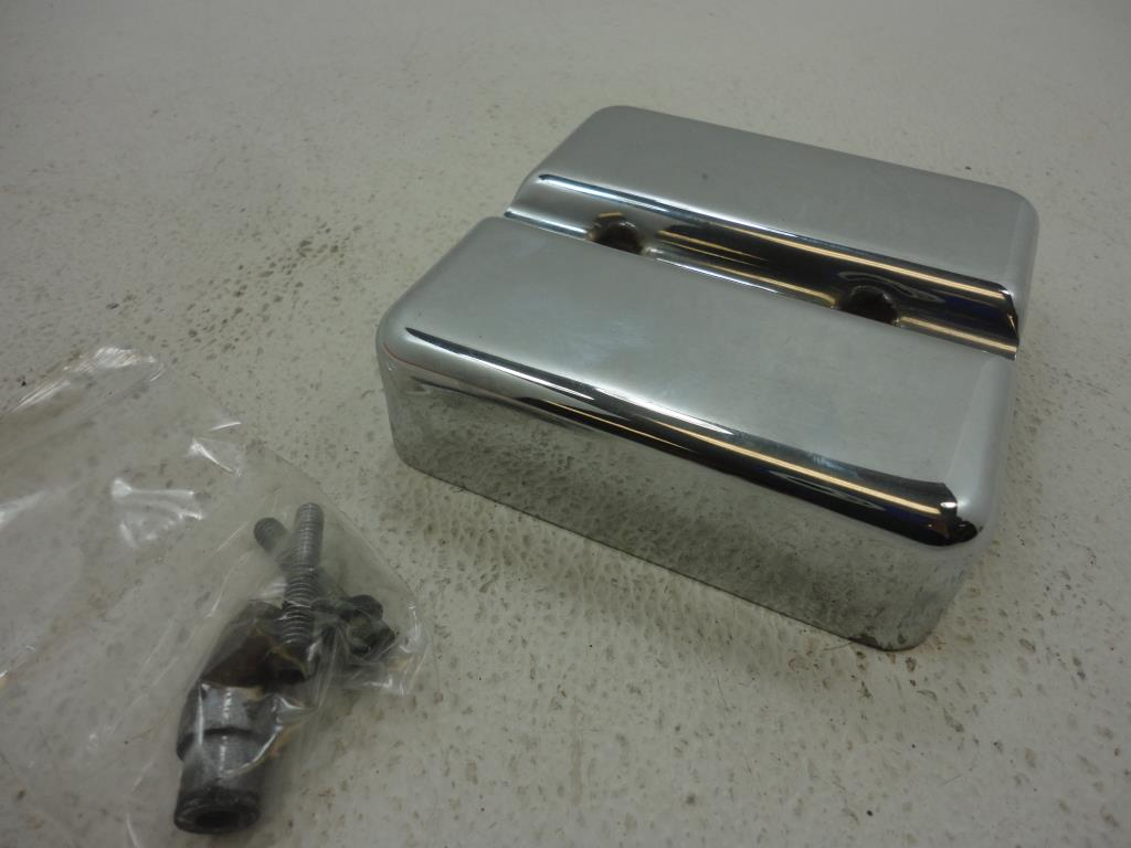 USED Harley Davidson CHROME CUSTOM CHROME DUAL IGNITION COIL COVER