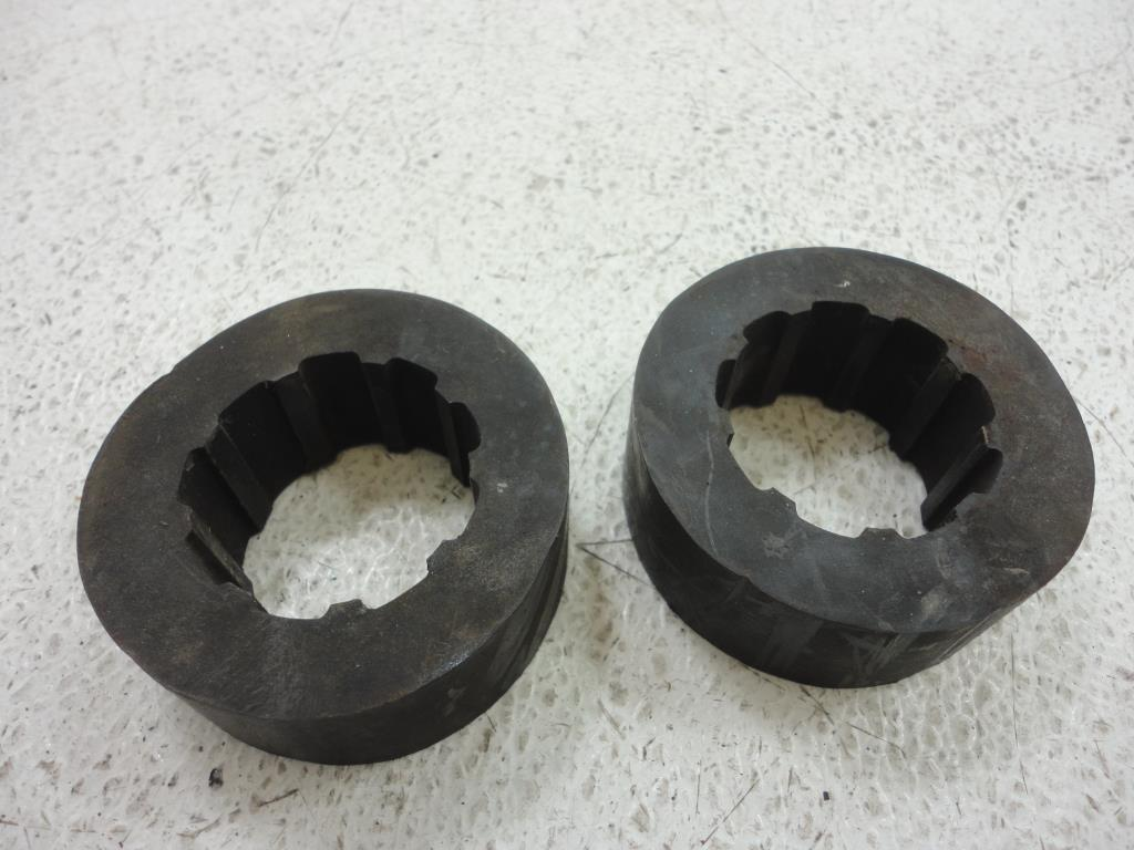 USED  1980-2008 Harley Davidson FLH/T Touring  FRONT FORK STOP RUBBER SLEEVE SET ..