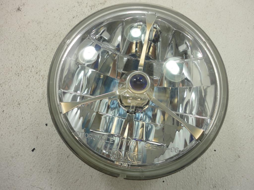 USED  Harley Davidson Trillient Headlight 5.75 Blue Dot Adjure