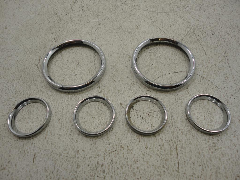 USED 1988-2018 Harley Davidson FLH Touring CHROME GAUGE FAIRING BEZEL COVER 5 PC