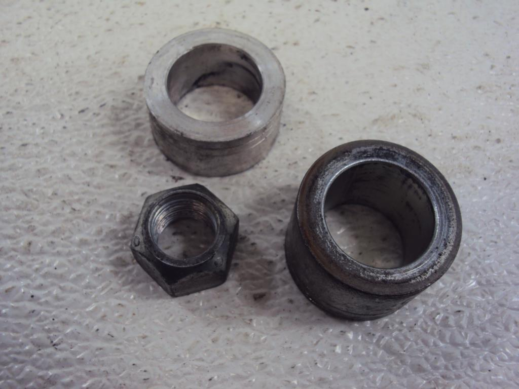 USED Harley Davidson Sportster Dyna Softail Touring 25mm FRONT WEEL AXLE SPACER (2)