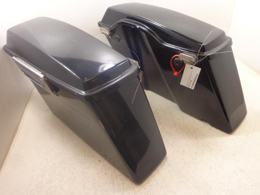 USED 93-13 Harley Davidson Touring SADDLEBAGS SADDLEBAG LEFT RIGHT W/ LID LATCH