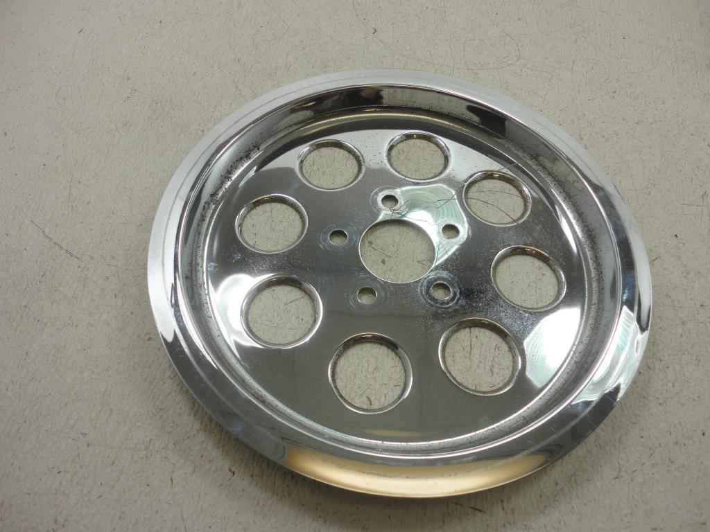 USED Harley Davidson CHROME REAR SPROCKET COVER 85-99 70T Dyna FXR Touring Softail