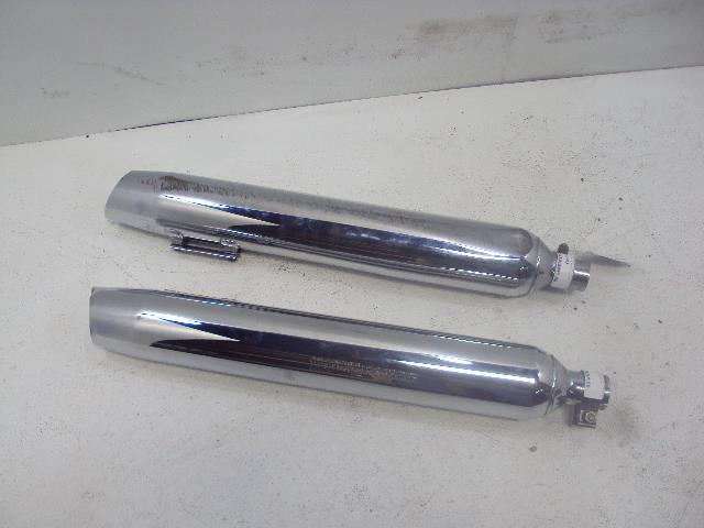 USED 1998-2001 Harley Davidson FLHR/I Road King EXHAUST MUFFLER RIGHT LEFT SLASH CUT