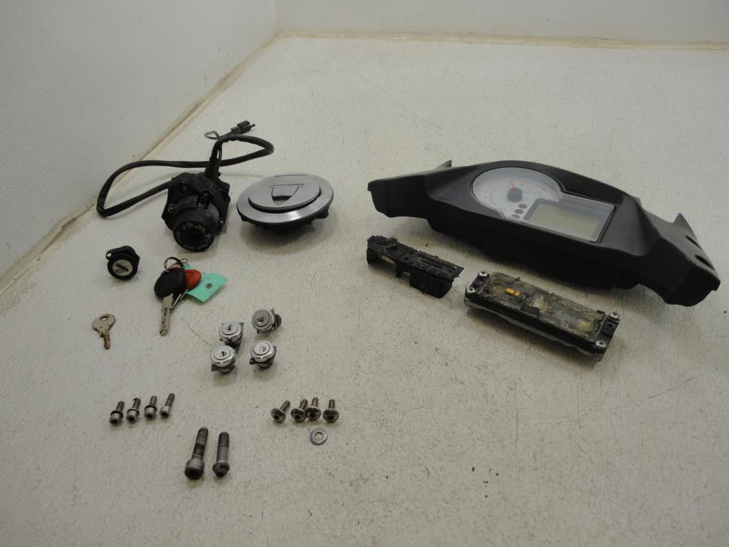 USED 09-10 Moto Guzzi Stelvio NTX 1200 MARRIED ECU LOCK S GAUGE IGNITION SWITCH KIT