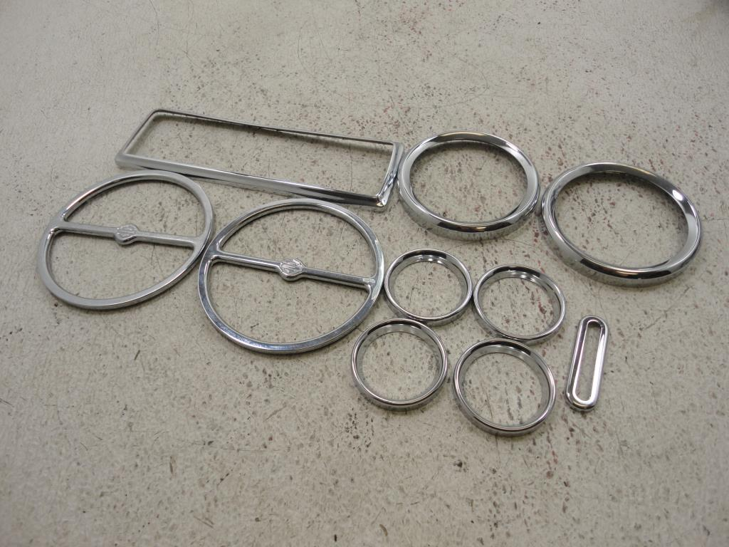 USED 2000-2005 Harley Davidson FLH Touring CHROME GAUGE FAIRING BEZEL COVER 10 PC